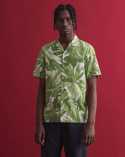 Chemise regular fit à manches courtes et imprimé Palm Breeze