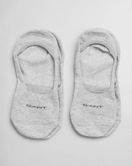 Set van twee paar onzichtbare effen sokken