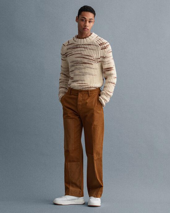 Pantalon chino façon patchwork