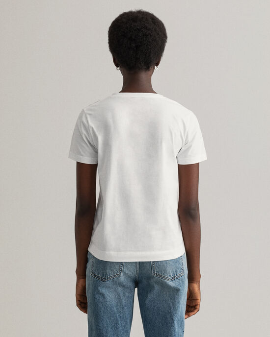 Original T-shirt met V-hals