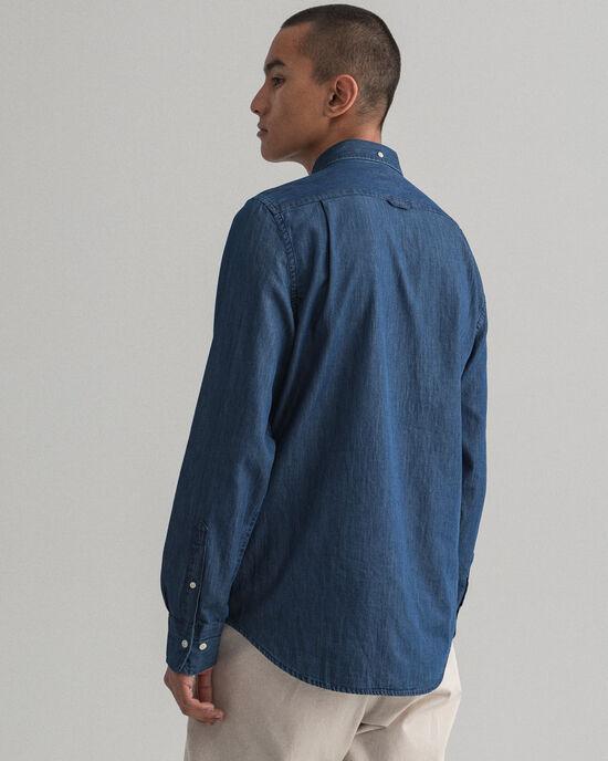 Slim Fit indigo hemd