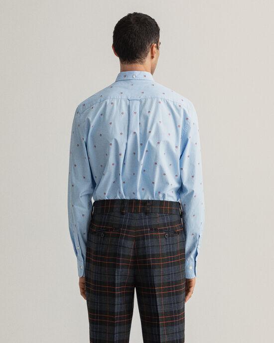 Regular Fit Shield Fil Coupé hemd