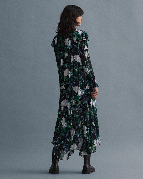 Robe longue à imprimé Rose