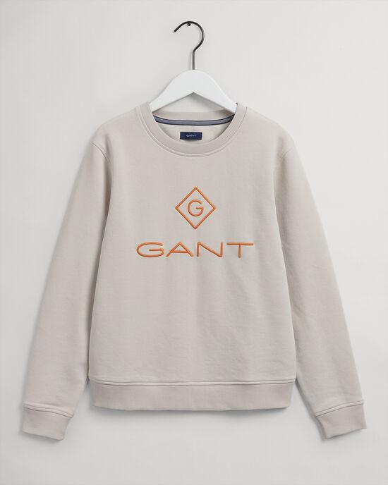 Sweatshirt met ronde hals en kleurig Logo