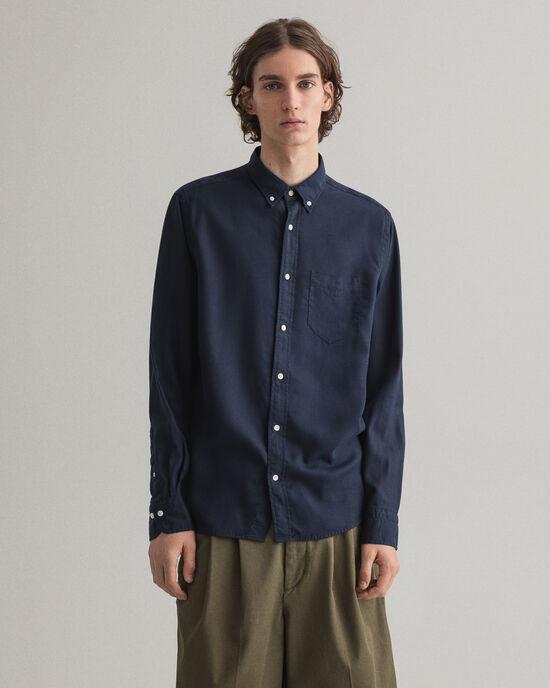Regular Fit Pure Prep hemd van speciaal geverfd lyocell