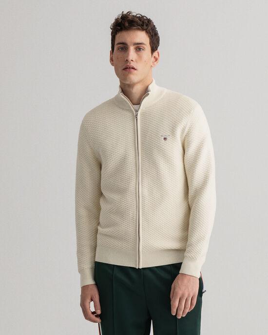 Triangle Texture vest met rits