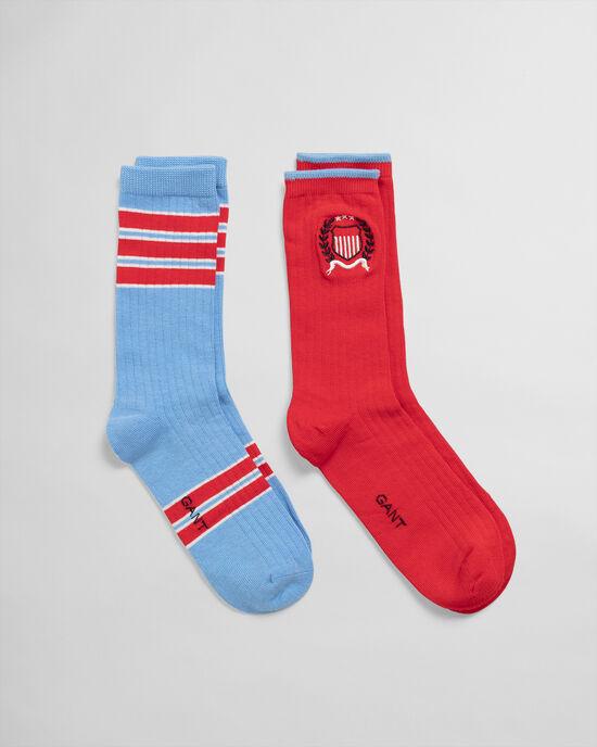 Set van twee paar Crest sokken in geschenkverpakking