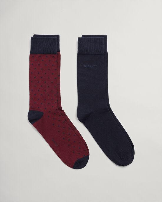 Lot de 2paires de chaussettes unies et à pois