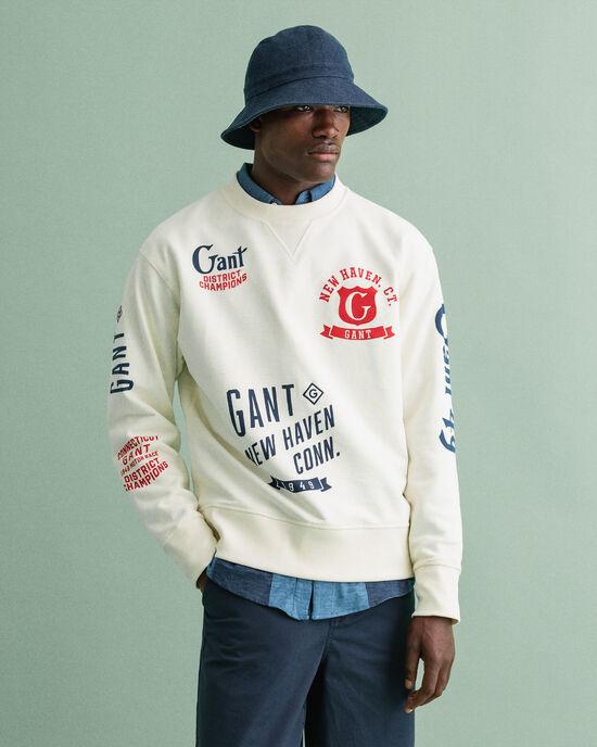 Sweatshirt met verschillende prints