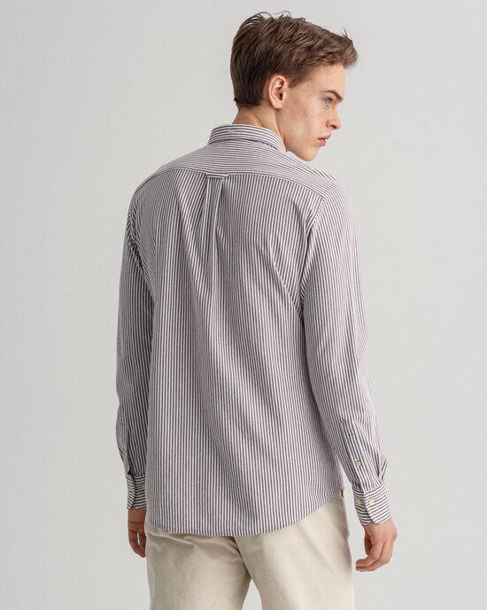 Regular Fit Tech Prep™ piqué hemd met streepje