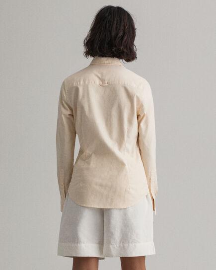 Chemise en coton Oxford stretch à rayures Banker