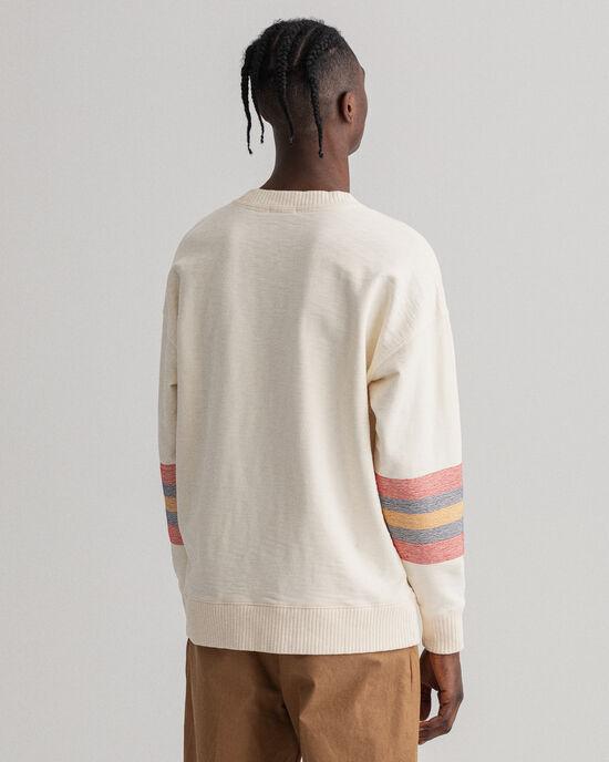 Relaxed Fit Geometric sweatshirt met ronde hals