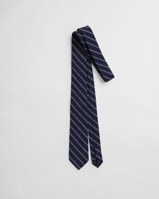 Gestreepte zijden stropdas met kleuraccenten