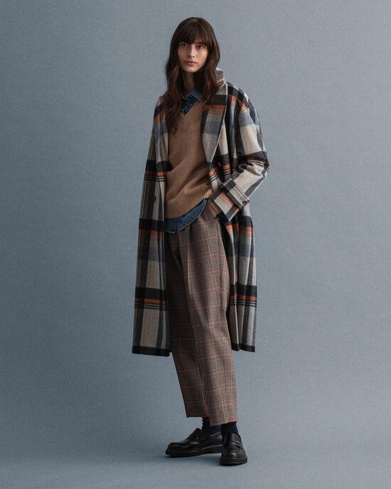Manteau Cocoon à carreaux