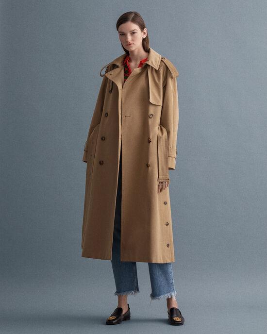 Trench-coat ultra-ample en coton