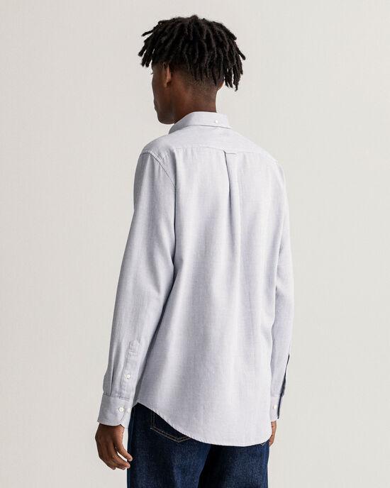 Regular Fit hemd met dobbyweefsel