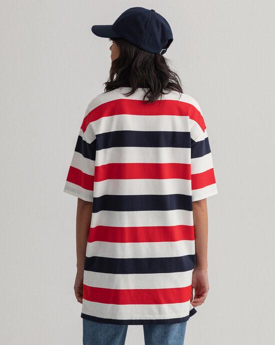 Robe à rayures en colour-block