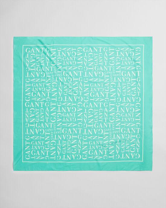 Sarong met typografische print