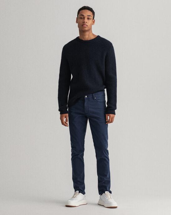 Maxen Extra Slim Fit satijnen jeans