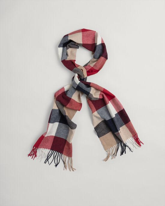 Sjaal met verschillende ruitjes
