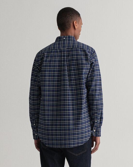 Regular Fit Beefy Oxford-hemd met ruitje