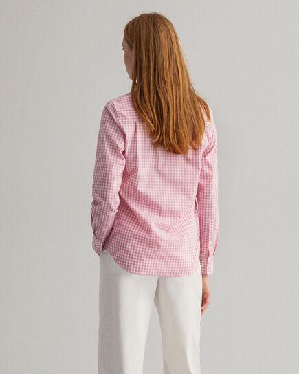 Chemise en popeline de coton à carreaux vichy