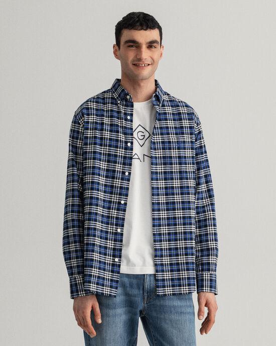 Regular Fit geborsteld Oxford-hemd met ruitje