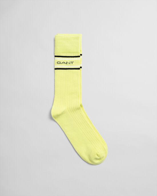 Gestreepte Logo sokken