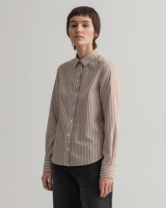 Poplin hemd met strepen