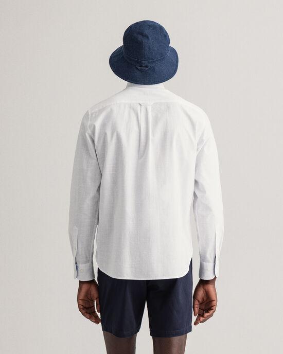 Regular Fit hemd van oneffen katoenkeper