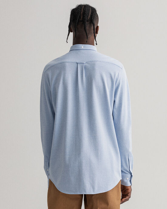 Regular Fit Tech Prep™ Texture hemd met piqué