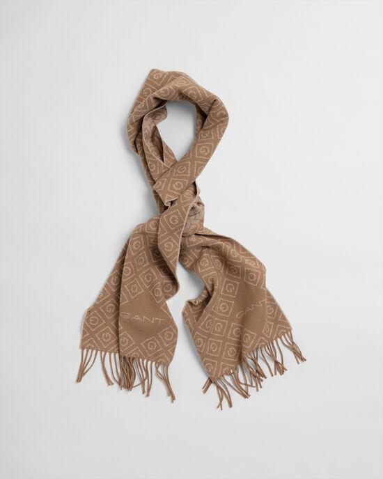 Iconic G wollen sjaal