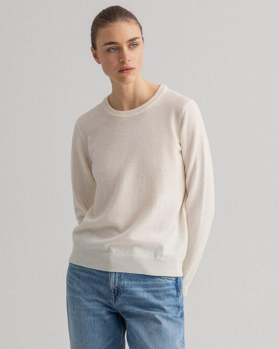 Trui met ronde hals van buitengewoon zachte lamswol