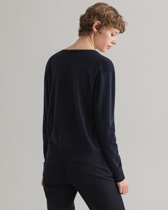 Sweater met V-hals van licht katoen